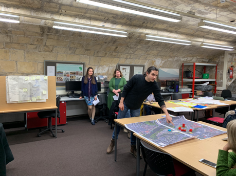Claire Boardman designing games at the York April 2019 workshop.