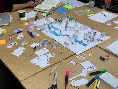 Process of designing games at the York APril 2019 workshop.